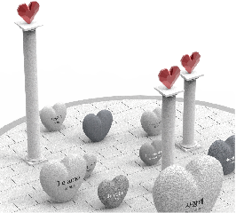 익산 황등역사 조형물 / 사랑해